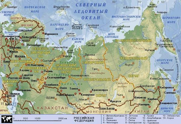 Самара на карте России - ProTown ru